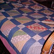 Vintage Quilt Log Cabin Virginia Ca. 1920-40