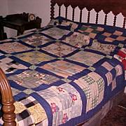 Vintage Quilt Virginia C. 1940-50