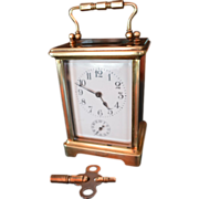 SOLD French Carriage Clock H&H with alarm C. 1910
