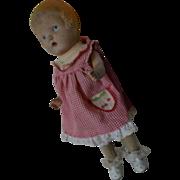 Doll composition & cloth C. 1920s