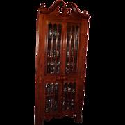 Corner Cabinet Inlaid  Late19 Century Mahogany
