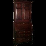 Exceptional Original 18th Century Oak Blind Door Secretary Desk