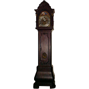 Grandfather Tall Case Dutch Bombe Walnut Case C.1870