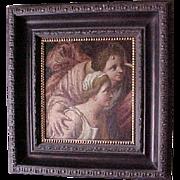 Flemish Oil On Canvas Two Renaissance Figures C.1600's