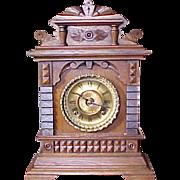 "SOLD Antique Ansonia Mantel Shelf Clock ""SYRIA"" 1892"