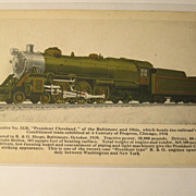 Post Card of Locomotive No. 5320 President Cleveland