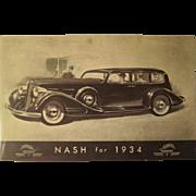 Post Card Nash for 1934 at World's Fair