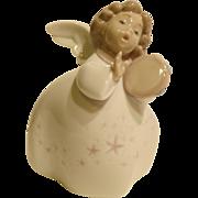 Lladro # 6530 Little Angel With Tambourine
