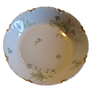 SALE Haviland &Co. Bowl delicate with violets and ferns.