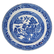 SALE Semi-vitreous bread and butter plate by Ridgeway China Co.  Blue Willow pattern.