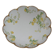 SALE Haviland Limoge plate in shades of yellow and gold.