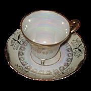 SALE Translucent  teacup and saucer