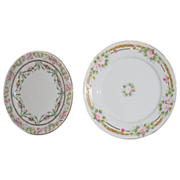SALE Two For One- Delicate cake plates . Japan and Austria
