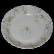 SALE Haviland-Limoges bowl . Pink roses and green ferns.