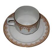 SALE Cup and Saucer set, ESCHENBACH  Golds and browns.