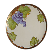 SALE Bavarian china, Hand painted, Signed by Carion  Grapes  real enough to eat