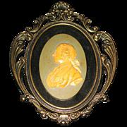 SALE Arabesque porcelain head  with decorative frame