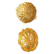 SALE Weeping gold  2 dishes   22 kt. gold