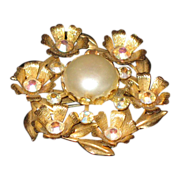 SALE Simulated pearl  with rhinestones