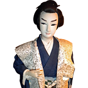 REDUCED Japanese Samurai or Lord doll with sword
