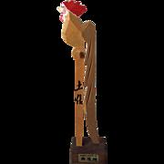 SOLD Hand-made wooden onagadori long-tailed chicken from Kochi City Japan souvenir