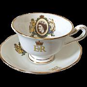 Royal Albert bone china Elizabeth Coronation cup and saucer