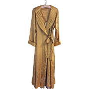 Vintage Victoria's Secret full length gold paisley dressing gown and champagne negligee - size