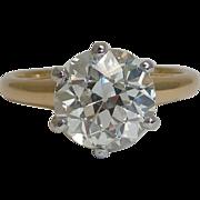 Rare Edwardian Welsh Gold Diamond Engagement Ring