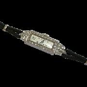 SALE Art Deco Platinum & 1.08ct Diamond Ladies Wrist Watch
