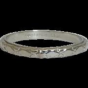 SALE Art Deco Hand Engraved Platinum Eternity Wedding Band