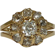 SALE Victorian 2.15ct Old Mine Cut Diamond Engagement Ring in Yellow Gold 14k