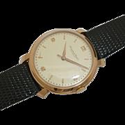 SALE Rare Oversized IWC Mens Wrist Watch in 18K Rose Gold