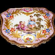 Rare Antique Choisy Le Roy Fluted Porcelain Box  circa 1850