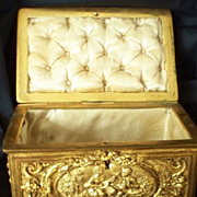 "Antique  French  Bronze  Box  Casket signed "" Paris""   Large"