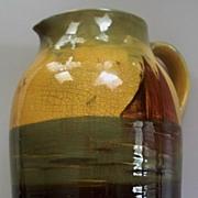 """Antique Wardle """"Teck Ware"""" Huge Jug/Pitcher  Artist Signed F.Bagley  c.1900"""