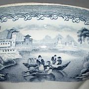SOLD Antique Staffordshire Pearlware Sugar Bowl Twig Handles & Finial c.1860