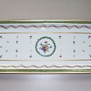 Haviland Limoges Vieux  Paris  Vert Oblong  Cake Platter  New