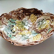 Antique G.S.H. Etruscan Majolica Deep  Bowl Circa 1880 Earliest Mark
