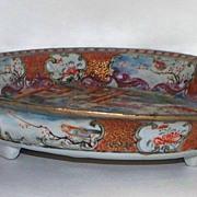 Antique Chinese Mandarin Bowl on Stand   circa 1770