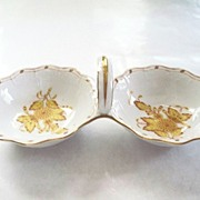 Herend  Hungary  Double - Salt  Bowls