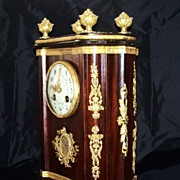 Antique Classical Louis XVI French Mantel Clock Mahogany & Ormolu Mounts