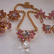 SOLD Christian Dior Necklace, 3 Pairs of Earring & 2 Pins Set. Never worn NEW