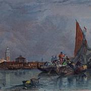 """""""Murano Ile de Pres Venise""""  Steel Engraving    C.Stanfield Artist  R.Wallis Engrave"""