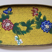 Antique Large Chinese Cloisonne Tray