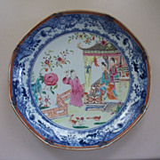 SOLD Beautiful 18th Century Chinese Famille Rose Palace Setting w Figures