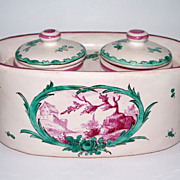 """Antique French Faience """"Sceaux"""" Inkwell    circa 1776"""