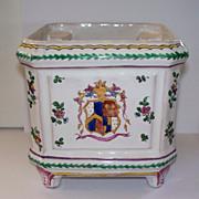 Antique French Faience Strasbourg  'Paul Hannong' Cache Pot ca.1740