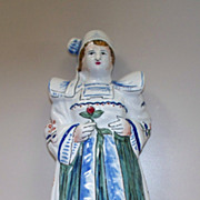 """French Faience  """"Brittany""""  Girl  Bell"""