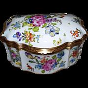 Antique Huge French Porcelain Rococo 'Choisy Le Roy'  Box circa 1800s