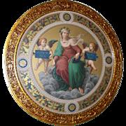 Three Antique Renaissance/Michelangelo Style Mezzotints Engravings Tondos circa 19th century
